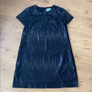 CeCe By Cynthia Steffe Black Sequin Dress
